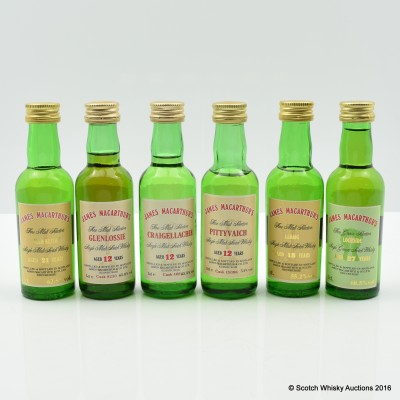 Assorted James MacArthur Minis 6 x 5cl Including Ledaig 18 Year Old 5cl