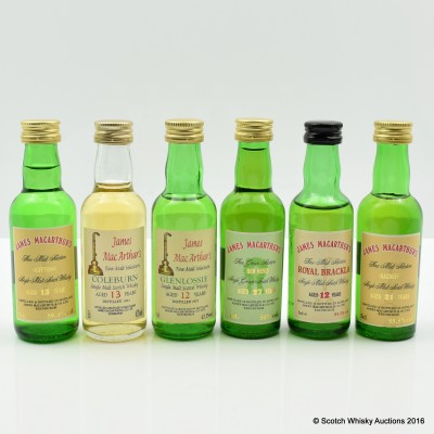 Assorted James MacArthur Minis 6 x 5cl Including Ben Nevis 27 Year Old 5cl