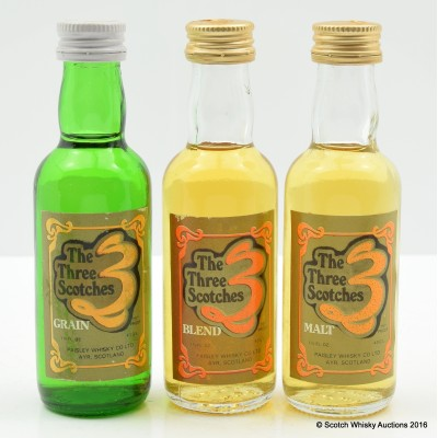 Three scotches Minis 3 x 5cl