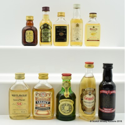 Assorted Minis 10 x 5cl Including Chivas Regal 12 Year Old 5cl