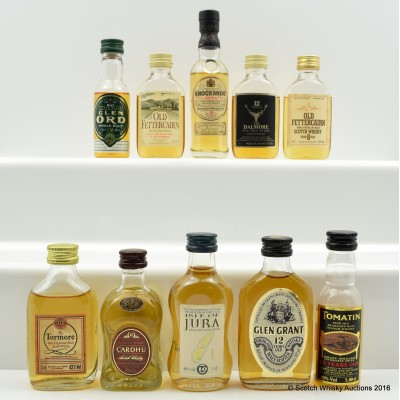 Assorted Minis 10 x 5cl Including Dalmore 12 Year Old 5cl