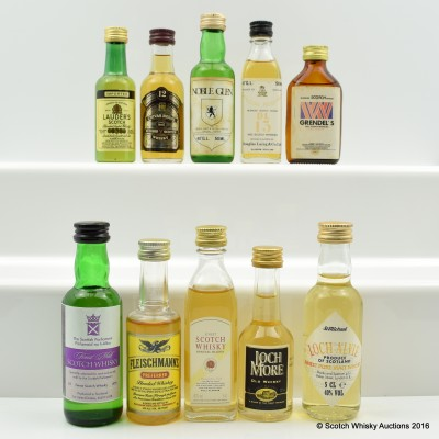 Assorted Minis 10 x 5cl Including Lauder's 5cl