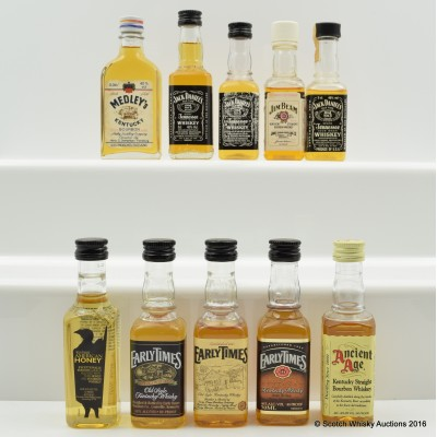 Assorted Minis 10 x 5cl Including Wild Turkey American Honey 5cl