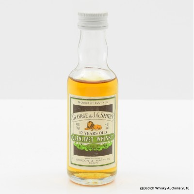 Glenlivet 12 Year Old Mini Gordon & MacPhail