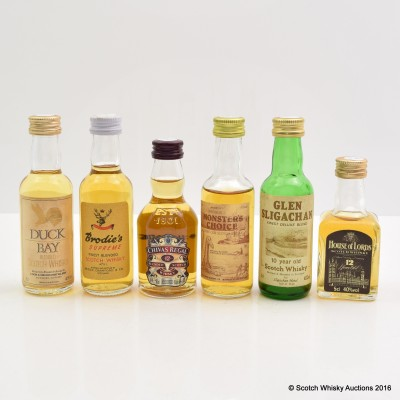 Assorted Minis 6 x 5cl Including Glen Sligachan 10 Year Old 5cl