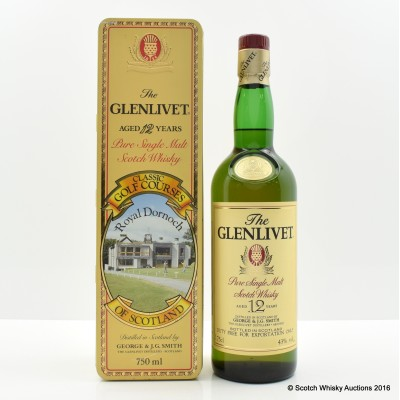Glenlivet 12 Year Old Classic Golf Courses Royal Dornoch 75cl