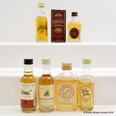Assorted Minis 6 x 5cl Including Cardhu 12 Year Old 5cl