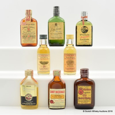 Assorted Minis 8 x 5cl Including Glenmorangie 18 Year Old 5cl