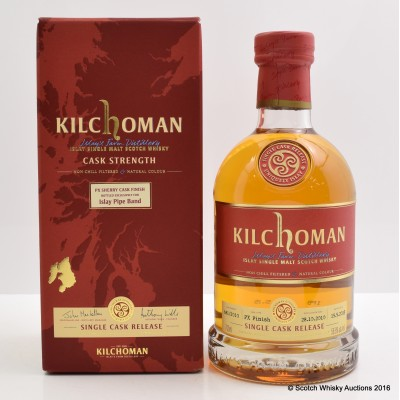 Kilchoman 2010 Single Cask PX Finish For The Islay Pipe Band
