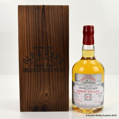 BOWMORE 1990 21 YEAR OLD OLD & RARE