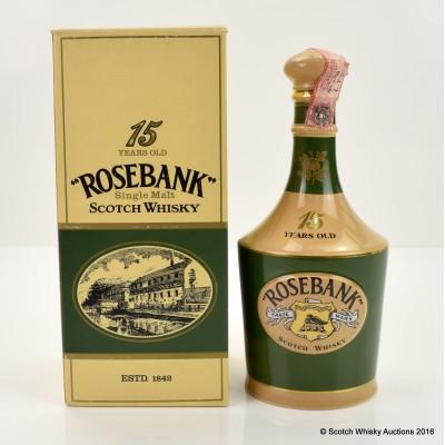 Rosebank 15 Year Old Spode Decanter 75cl