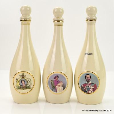 Rutherford's Ceramic Skittle Bottles 3 x 50cl