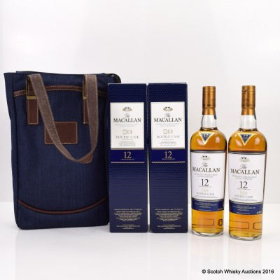 Macallan 12 Year Old Double Cask x 2 with Branded Bag
