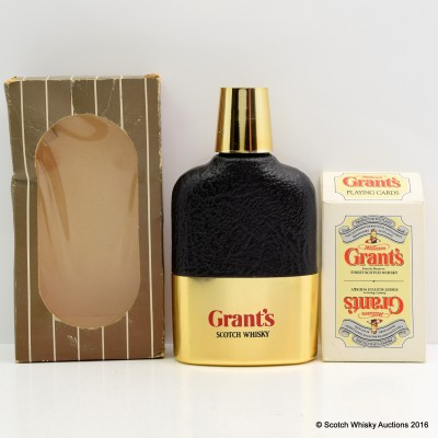 Grant's Flask & Playing Cards
