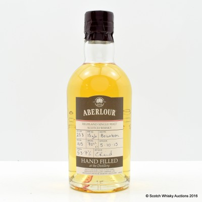 Aberlour 15 Year Old Distillery Only Hand Filled Bourbon Cask