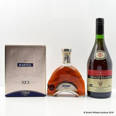 Martell XO Cognac 35cl & French Brandy 1L