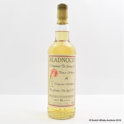 Bladnoch 8 Year Old Royal Marriage