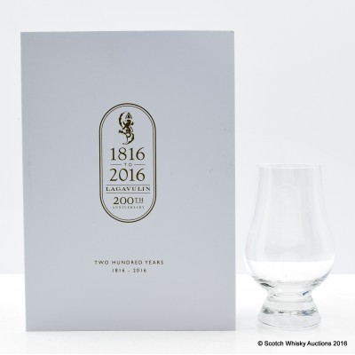 Lagavulin 200th Anniversary Booklet and Nosing Glass