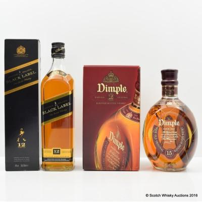 Dimple 15 Year Old & Johnnie Walker Black Label 12 Year Old
