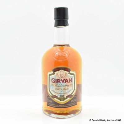 Girvan Celebrating 40 Years Of Distilling