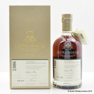 Glenglassaugh 1986 28 Year Old Rare Cask Release