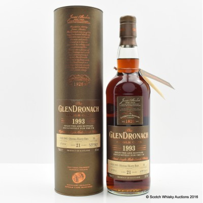 GlenDronach 1993 21 Year Old Single Cask #39 UK Exclusive