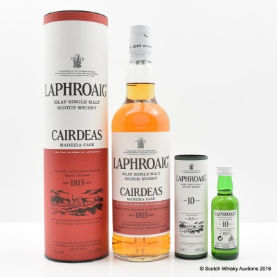 Laphroaig Feis Ile 2016 Cairdeas Madeira Cask & Laphroaig 10 Year Old Mini 5cl