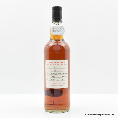 Hazelburn 2001 14 Year Old Port Cask Duty Paid Sample