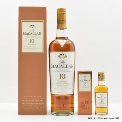 Macallan 10 Year Old & Mini 5cl