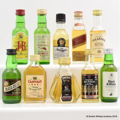 Assorted Minis 10 x 5cl Including Johnnie Walker Red Label 5cl