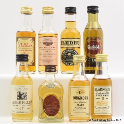 Assorted Minis 8 x 5cl Including Longmorn 15 Year Old 5cl