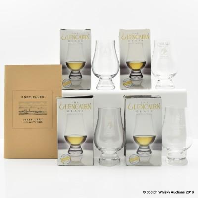 Port Ellen Distillery And Maltings Book & Glencairn Whisky Glasses x 4