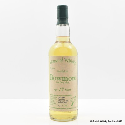 Bowmore 1990 12 Year Old House of Whisky