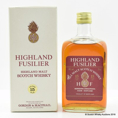 Highland Fusilier 15 Year Old Gordon & MacPhail 75cl