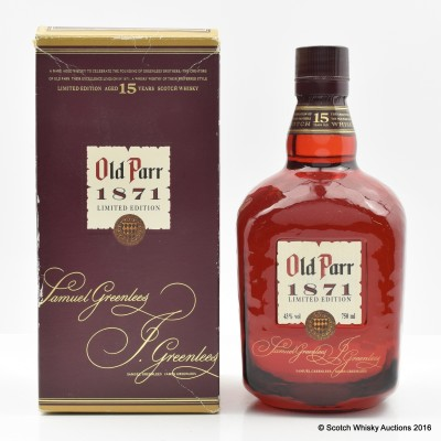 Old Parr 15 Year Old 1871 Edition 75cl