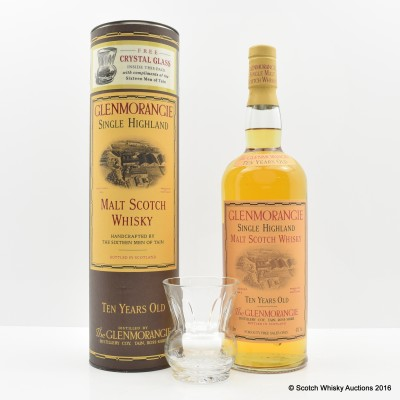 Glenmorangie 10 Year Old 1L with Crystal Glass