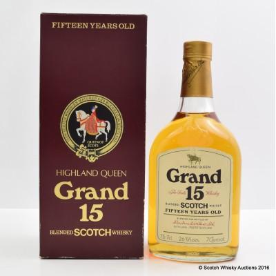 Highland Queen Grand 15 Year Old 26 2/3 Fl Oz