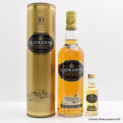 Glengoyne 10 Year Old & Matching Mini 5cl