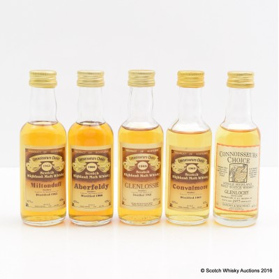 Assorted Connoisseurs Choice Minis 5 x 5cl Including Convalmore 1969 5cl