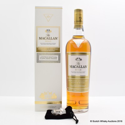 Macallan Gold with Cufflinks