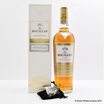 Macallan Gold with Cufflinks