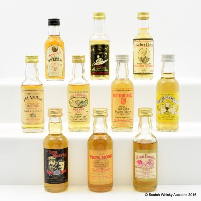 Assorted Minis x 10 Including The Immortal Memory 8 Year Old 5cl