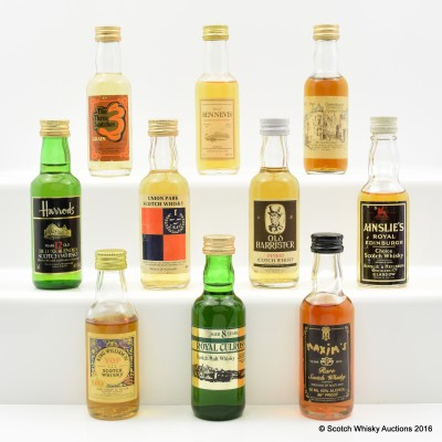 Assorted Minis x 10 Including Including Royal Culross 8 Year Old 5cl