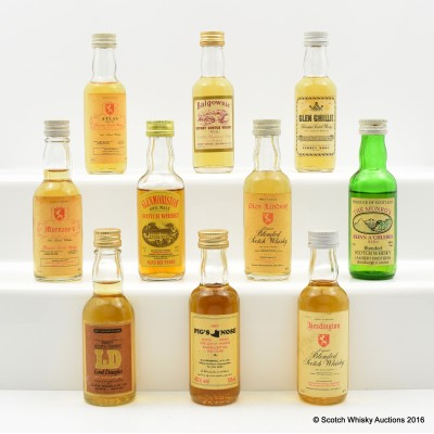 Assorted Minis x 10 Including Glenmoriston 10 Year Old 5cl