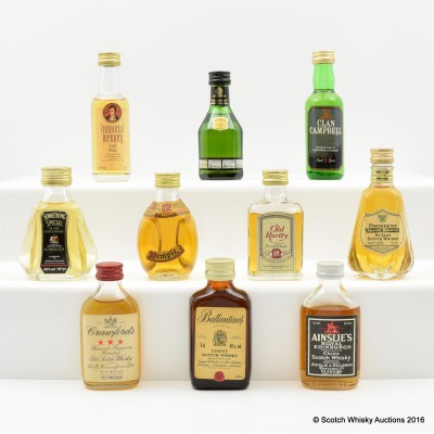 Assorted Minis x 10 Including Dimple 12 Year Old 5cl