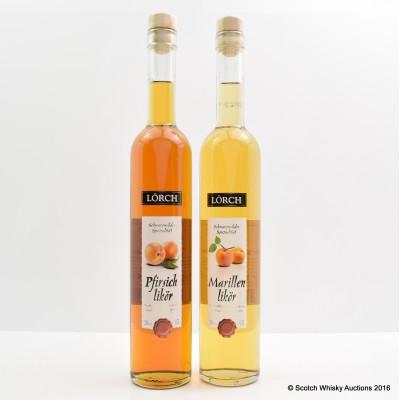 Lorch peach Liqueur 50cl & Lorch apricot Liqueur 50cl