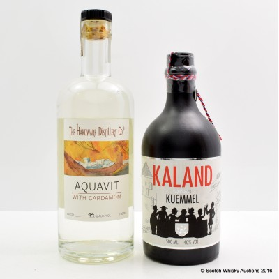 Kaland 50cl & Hardware Aquavit with Cardamon 75cl