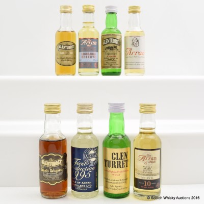Assorted Minis 8 x 5cl Including Glenturret Malt Liqueur 5cl