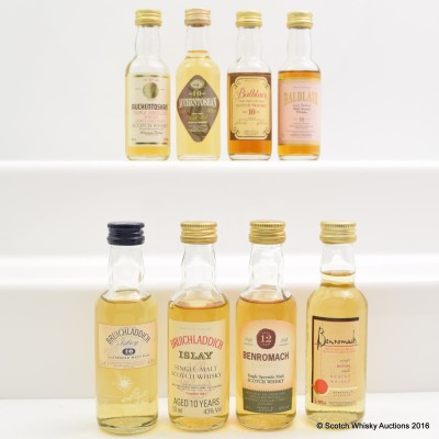 Assorted Minis 8 x 5cl Including Balblair 10 Year Old 5cl