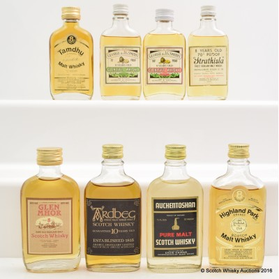 Assorted Minis 8 x 5cl Including Ardbeg 10 Year Old Old Style 5cl